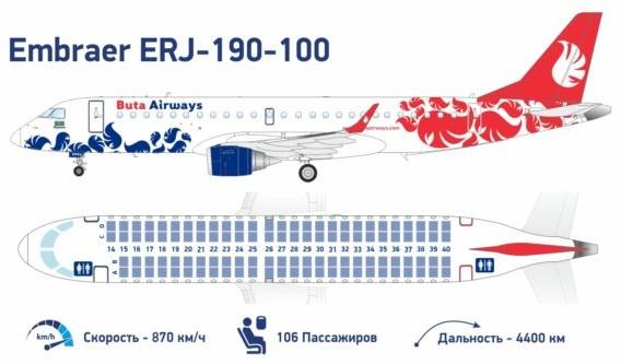 схема салона Embraer 190