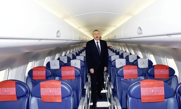 Президент Алиев на борту Buta Airways